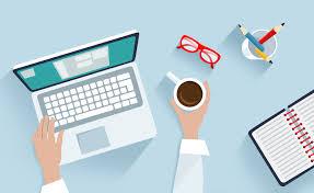 Laptop and Desk Illustration